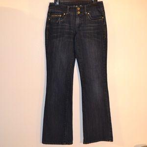 inc dark blue denim jeans size 4